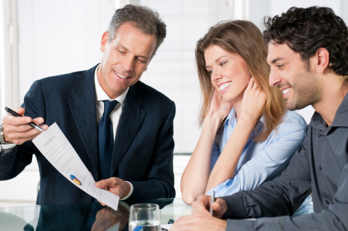 Meet with financial planner to get advice about retirement, investing, money and wealth management.