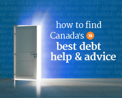 How consumers can find the best debt help and advice in Canada.