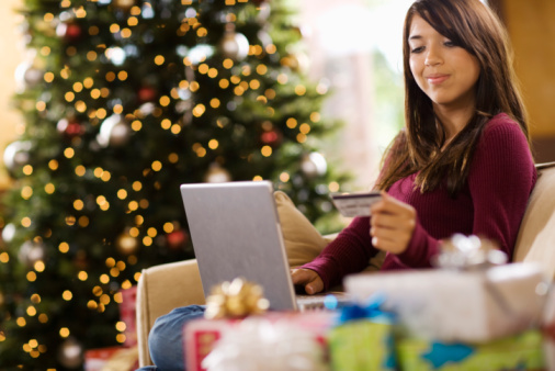 Shopping online with a gift giving list