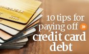 10 tips for paying off credit card debts in Canada.