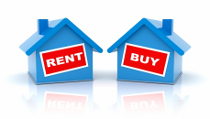 Chosing to rent or buy a home.
