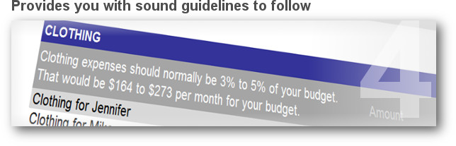 Provides you with proven guidelines to follow for your spending plan.