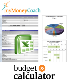 Excel budgeting calculator spreadsheet and worksheet for Canadian consumer personal and household budgets.