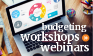 Free online workshops, webinars, and courses for creating or improving a personal or household budget.
