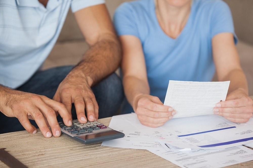Couple Going Through Their Bills