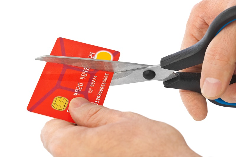 Man Cuts Up His Credit Card