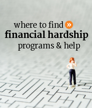 Where to find financial hardship programs and help in Canada.