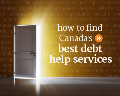 How to find the best debt help services across Canada.