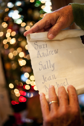 make a Christmas shopping list and stick to your budget
