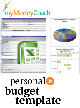 Free Excel personal budget template and budgeting calculator spreadsheet and worksheet.
