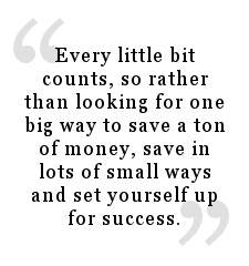 Quote about how saving small amounts adds up to financial success.