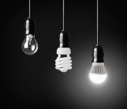 Save money and electricity with LED lighting rather than incandescent or CFL bulbs