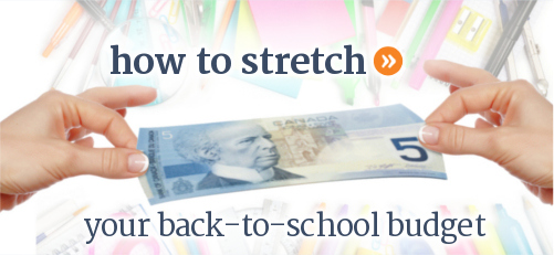 Ideas for how to stretch your back to school dollars and save money.