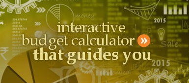 Free interactive budget calculator worksheet and spreadsheet for living expenses.